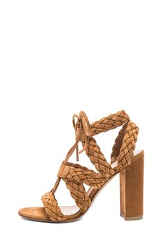 Gianvito Rossi Braided Suede Heels