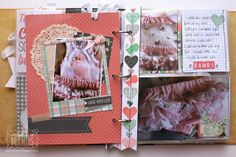 Bernii Miller created this fun Misc. Me Journal using the new Pincushion collection. Love how she documented her own clothing line on the pages. #BoBunny, @Bernadette Miller