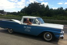 """""""Lola"""", our 1959 Ford Ranchero makes her post make-over debut in #Nantucket! #classic #cars"""