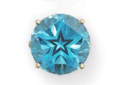 blue topaz, the official gemstone of Texas, notice the lone star in the cut