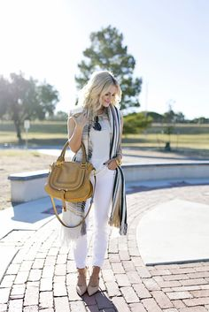 All White With a Pop of Plaid | Chronicles of Frivolity