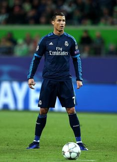 Real Madrid's Portuguese forward Cristiano Ronaldo reacts during the UEFA Champions League quarter-final, first-leg football match between VfL Wolfsburg and Real Madrid on April 6, 2016 in Wolfsburg, northern Germany.