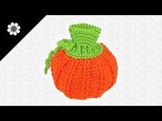 #Bolsa para #dulces con forma de #Calabaza a #Crochet | #PatronesValhalla