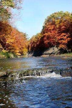 The Ashtabula River in Ashtabula, OH
