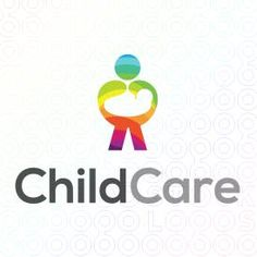 Human shaped Logo Design of a mom holding its baby with a colorful, feminine and playful feel For Sale On StockLogos | Child Care logo