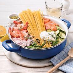 Fettucines au saumon et crevettes, sauce au vin blanc - Recettes - Cuisine et nutrition - Pratico Pratiques