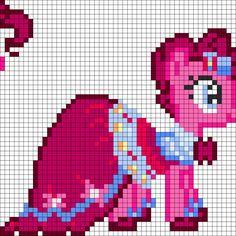 MLP Gala Pinkie Pie perler bead pattern