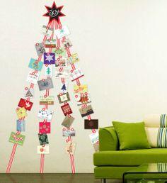 Manieren om kerstkaarten op te hangen   Éénig Wonen