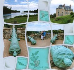 Balade au Château | Azza - Leader du scrapbooking. Great idea for multiple photos!