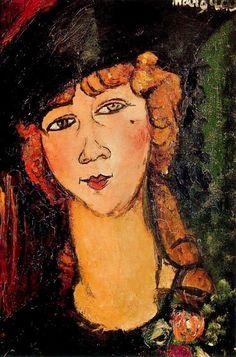 Modigliani, Amedeo - Renée the Blonde - Ecole de Paris - Oil on canvas… Amedeo Modigliani, Modigliani Paintings, Italian Painters, Italian Artist, Oil On Canvas, Canvas Art, Free Art Prints, Oil Painting Reproductions, Art Moderne