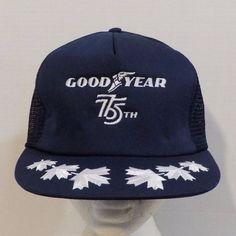 GoodYear 75th Canada Snapback Baseball Truckers Hat Cap #Avon #Trucker
