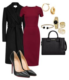 """""""Work"""" by cgraham1 on Polyvore featuring Iris & Ink, Karl Lagerfeld, Christian Louboutin, David Yurman, Movado, Bony Levy, Alexis Bittar and Argento Vivo"""