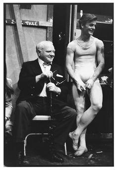 James Cagney &  Mikhail Baryshnikov, NYC Ballet, 1979 ~ Photo  by Arthur Elgort