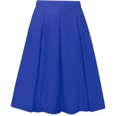 Dorothy Perkins Cobalt Cotton Full Skirt (59 CAD) ❤ liked on Polyvore featuring skirts, cobalt, cotton skirts, blue skirt, full skirts, cotton knee length skirt and blue cotton skirt