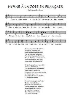 Hymne à la joie en français Partition gratuite