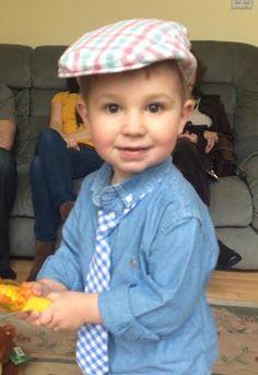 Luke's Easter look wearing Chip cap. #jrbabyhatter www.juniorbabyhatter.us