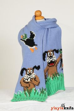 Duck Hunt Scarf Fan edition by Yiayiaknits on Etsy