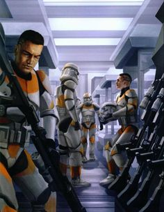 Clone Troopers of the 212th Attack Battalion preparing for combat.