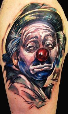 sad and happy joker tattoos for men
