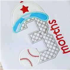 Baseball Birth Months - Planet Applique Inc Christmas Applique, Christmas Embroidery, Birth Month, Baby Month By Month, Embroidery Fonts, Embroidery Applique, Applique Designs, Embroidery Designs, Baseball Theme Birthday