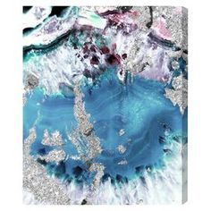 Muted Crystals Canvas Print, Oliver Gal