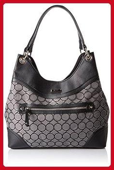 71801d59dd97 Nine West 9 Jacquard Shoulder Bag Grey Metallic