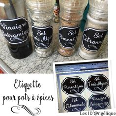 Baking Ingredients, Kitchen Organization, Vintage Images, Cricut, Ramadan, Homemade, Pot Mason, Tampons, Adobe Photoshop