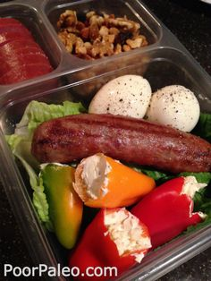 Adult Paleo Lunch Box Sausage Wrap - The Paleo Gypsy