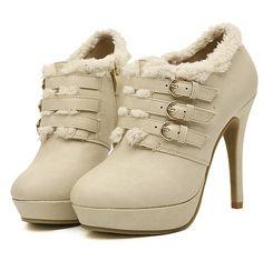 wholesale Cheap ankle boots buckle generous fashion ladies shoes XD-YX2030-2