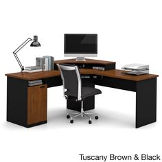 Bestar Hampton Corner Workstation Desk By