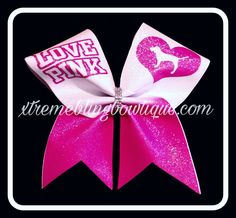 Cheer Bow --Love Pink