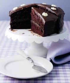 This easy Chocolate Fudge Cake recipe will satisfy even the most die-hard chocolate lover in your house. Show your favorite chocoholic you can bring the goods with this Chocolate Fudge Layer Cake. Rich, moist, intense chocolate flavor in an easy cake make this a true winner!