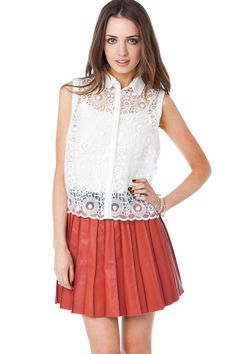 ShopSosie Style : Dream Lace Top in White