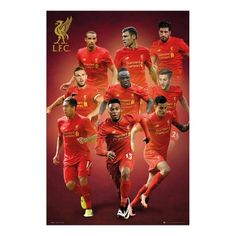 Liverpool FC Players 2016 - 2017 Season Poster b66e2424d8807