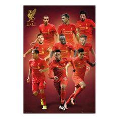 Liverpool FC Players 2016 - 2017 Season Poster