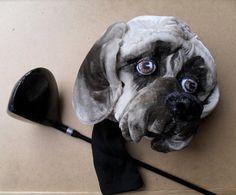 American Mastiff GOLF club  head cover ,Custom Dog portrait  , Mastiff , golf accessories ,golfer gift , Christmas golf gift , GOLF GIFT
