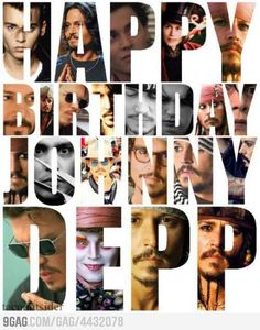 Happy Birthday to my favorite actor <3 - June 9, 1963   This is also my 1000th Johnny Depp Pin! How fitting that its his birthday lol!