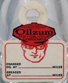 OILZUM OIL CHANGE REMINDER TAG - FRONT