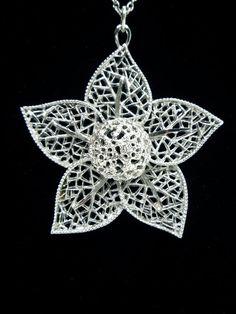 Lovely 60s flower pendant by HuzzarHuzzar on Etsy, £12.99