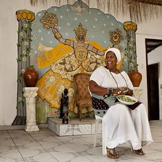 Jaciara Ribeiro, Mother of Terreiro Asé Abassá de Ogum in Bahia, Brazil.  A proud activist and fighter against religious intolerance that Afro-Brazilian religions face.
