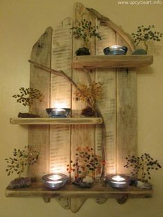 Ted's Woodworking Plans - Amazing Natural Driftwood Tall Shelves Solid Rustic Shabby Chic Unique Artwork in Home, Furniture DIY, Furniture, Bookcases, Shelving Storage Shabby Chic Rustique, Rustikalen Shabby Chic, Shabby Chic Furniture, Diy Furniture, Furniture Projects, Furniture Plans, Furniture Makeover, Pallet Crafts, Pallet Projects