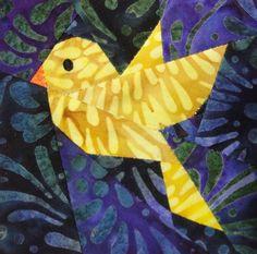 "3.5"" block - BBC - Bird Theme by Sandy in Buenos Aires, via Flickr x"