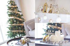 Ivory, Silver & Gold Christmas Decor // http://lovehlee.blogspot.com