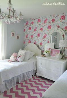 pretty shared girl's room by Dear Lillie