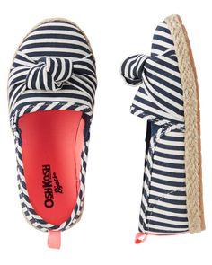 Size 13 OshKosh BGosh Girls Slip-On Espadrilles Multi Stripe