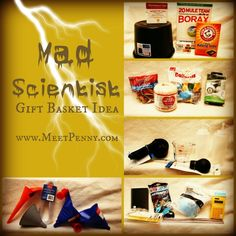 ideas for a homeschool science kit -- would be a good gift for a kid who likes science