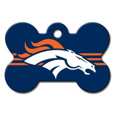 Go Broncos Go! #NFL Pro #Football Sports Tags at www.dogids.com - Personalized engraved information on back! $17 at www.dogids.com