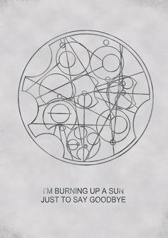 a circular gallifreyan tattoo would be cool.