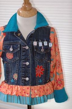 Refashioned denim jacket