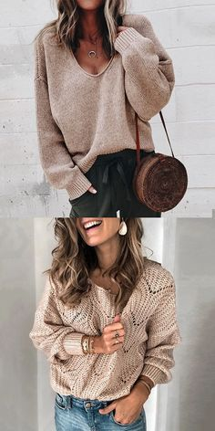 Fashion trends for women's top, loose and sexy style makes you more chic and beautiful. Multiple colors and sizes you can choose! Suitable for all seasons. Click and shop now! Boho Fashion, Fashion Outfits, Womens Fashion, Fashion Trends, Sweater Sale, Winter Sweaters, Get Dressed, Casual Chic, Couture